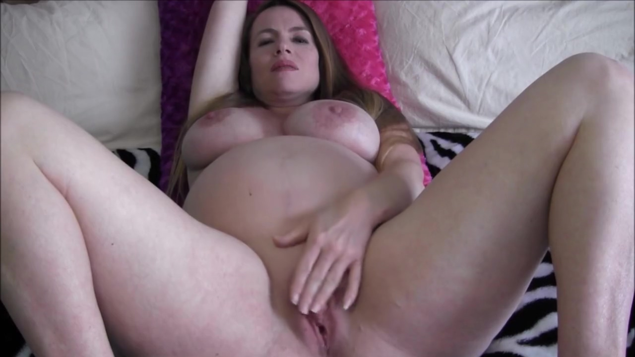 9 Month Pregnant Sex Ed Teacher Seduces Student (solo with toy)