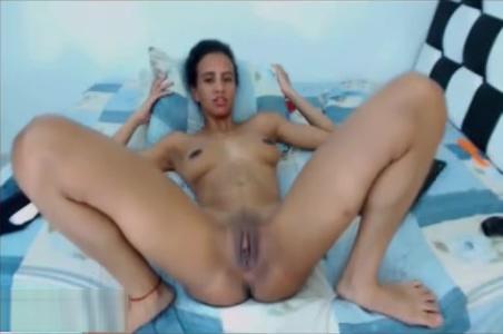 Skinny Indian Girl Having Fun And Masturbates On Webcam