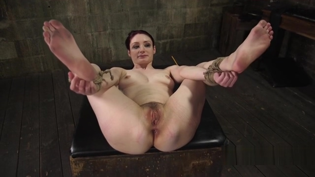 Clamped pussy and nipples weighted