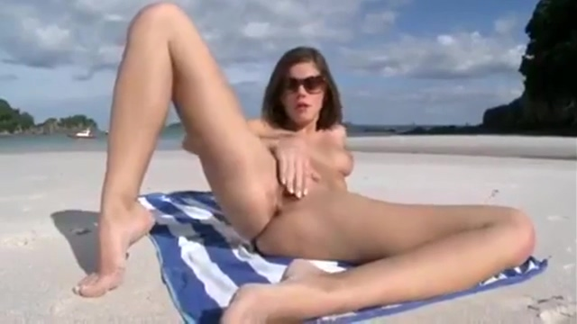 Naked beach fun