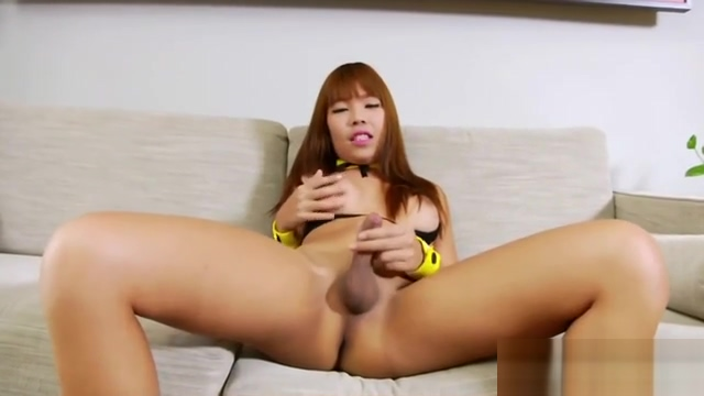 Asian Trans Babe Yuki Love Jerks Off