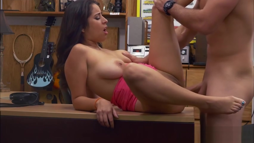 Nina works a deal with Shawns cock in the office for money