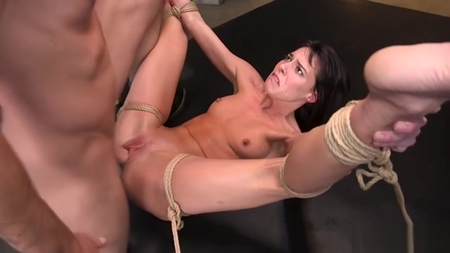 Hot Milf slave throat and cunt banged