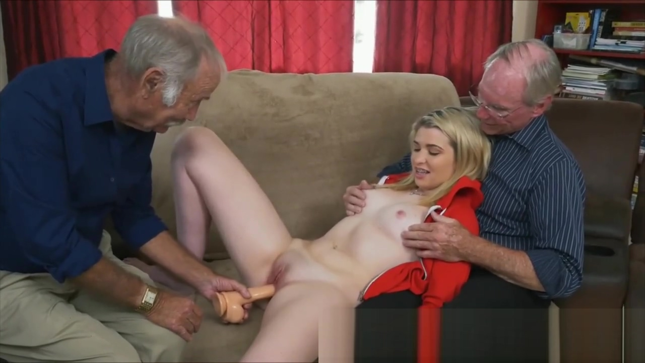 Teenage Whore Dildo Then Sucking Very Old Man