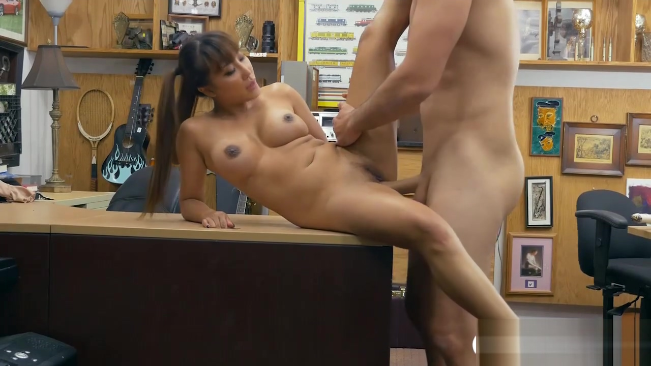 Busty asian drilled by horny pawn dude in his pawnshop