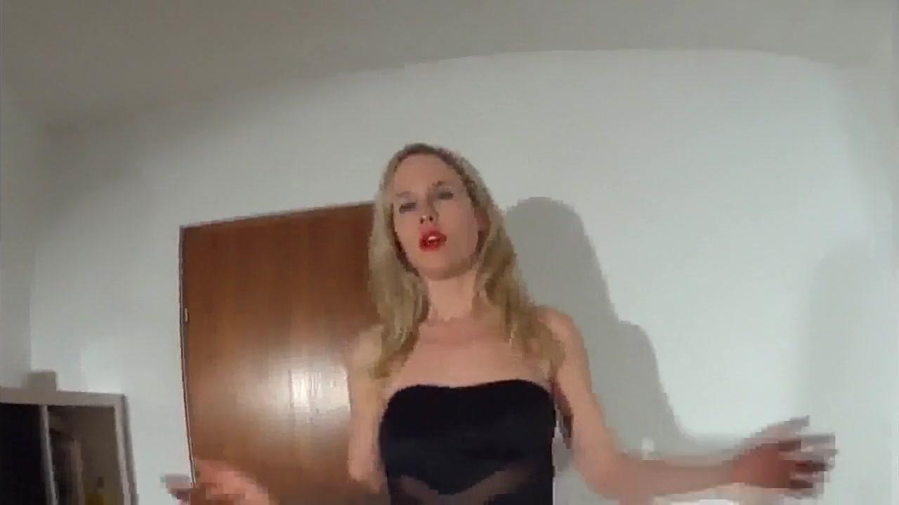 Sweet blonde the black dress anal